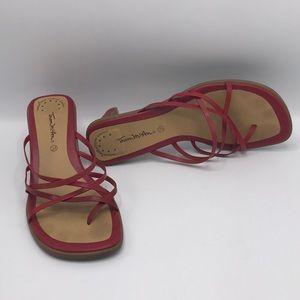 Thom McAn Red Samantha Heels Sandals
